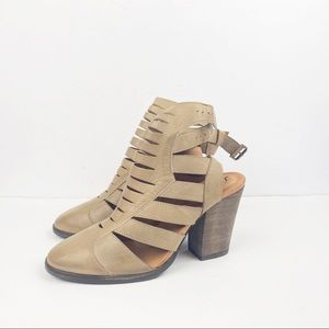 Free People 40 Hayes Leather Bootie Faded Khaki